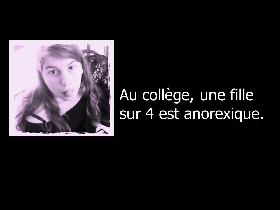 Au collège, une fille sur 4 est anorexique.