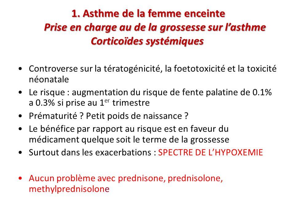 Controverse sur la tératogénicité, la foetotoxicité et la toxicité néonatale Le risque : augmentation du risque de fente palatine de 0.1% a 0.3% si pr