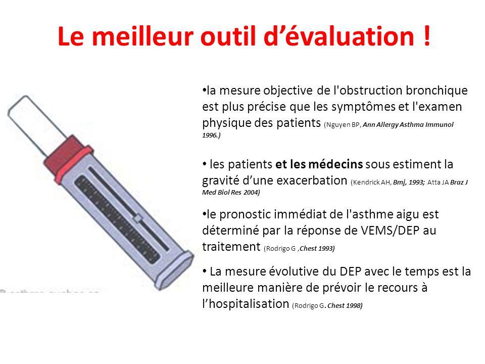 Le meilleur outil dévaluation ! la mesure objective de l'obstruction bronchique est plus précise que les symptômes et l'examen physique des patients (