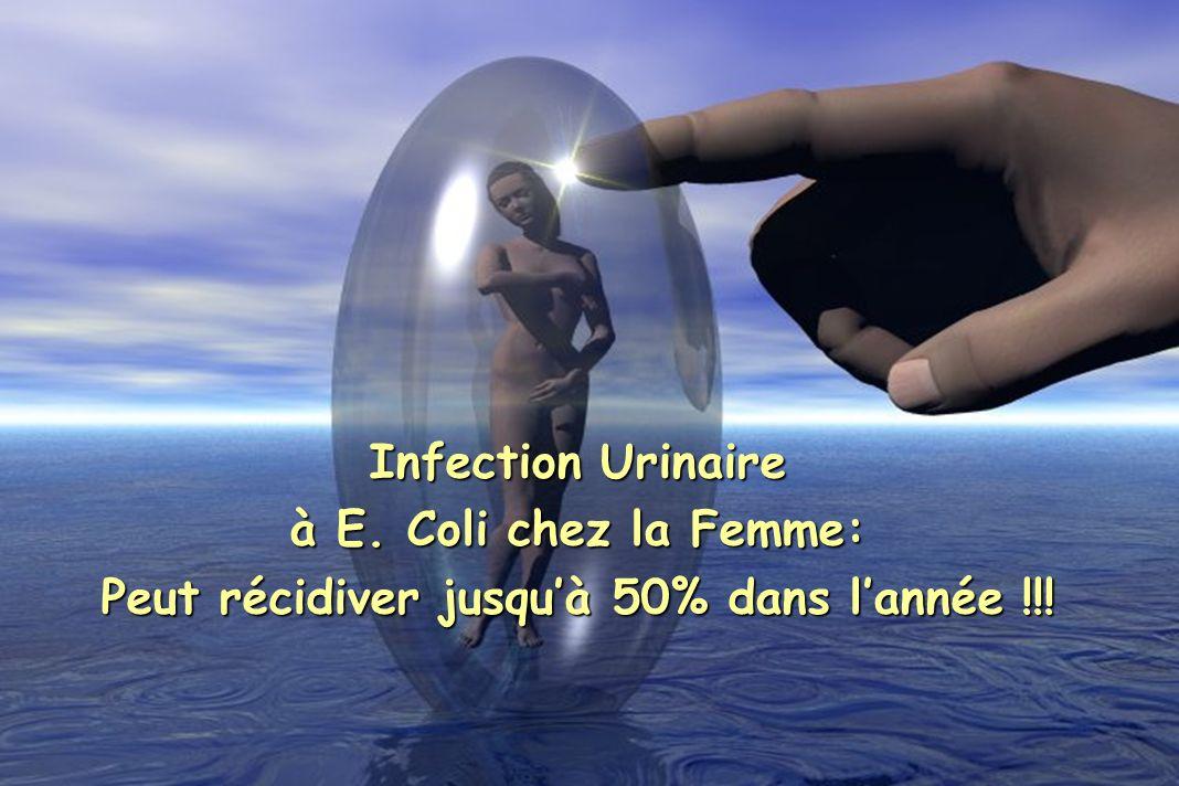 Infection Urinaire à E. Coli chez la Femme: Peut récidiver jusquà 50% dans lannée !!!