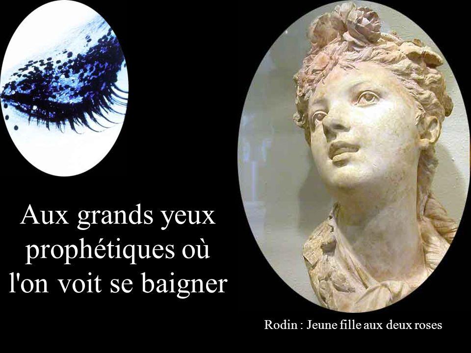 Aux grands yeux prophétiques où l on voit se baigner Rodin : Jeune fille aux deux roses