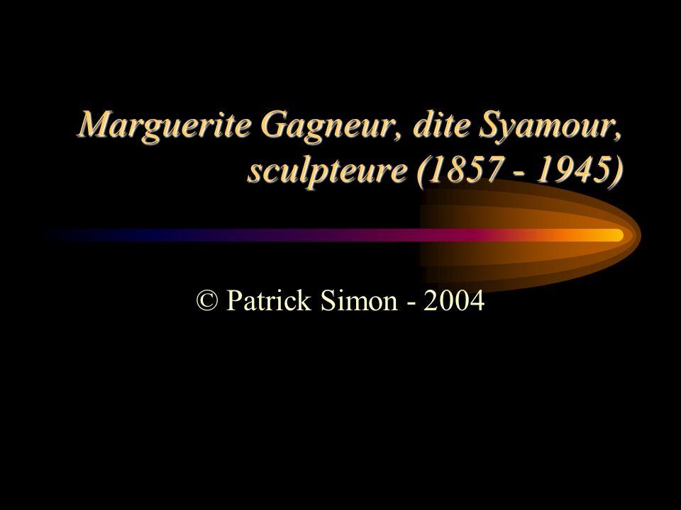 Marguerite Gagneur, dite Syamour, sculpteure (1857 - 1945) © Patrick Simon - 2004