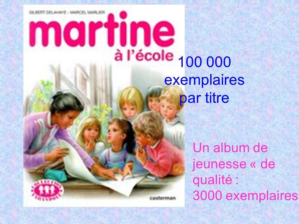 100 000 exemplaires par titre Un album de jeunesse « de qualité : 3000 exemplaires