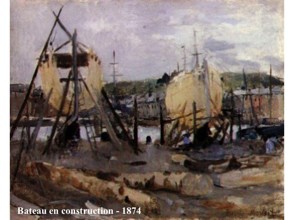 Elle délaisse le salon officiel de 1874 pour rejoindre l'exposition parallèle de Monet, Sysley, Renoir.Cette même année, elle épouse Eugène Manet, frè