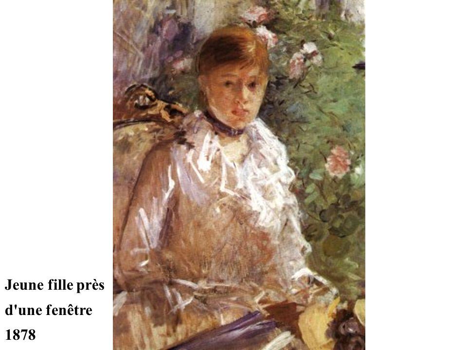 Jeune fille près d une fenêtre 1878
