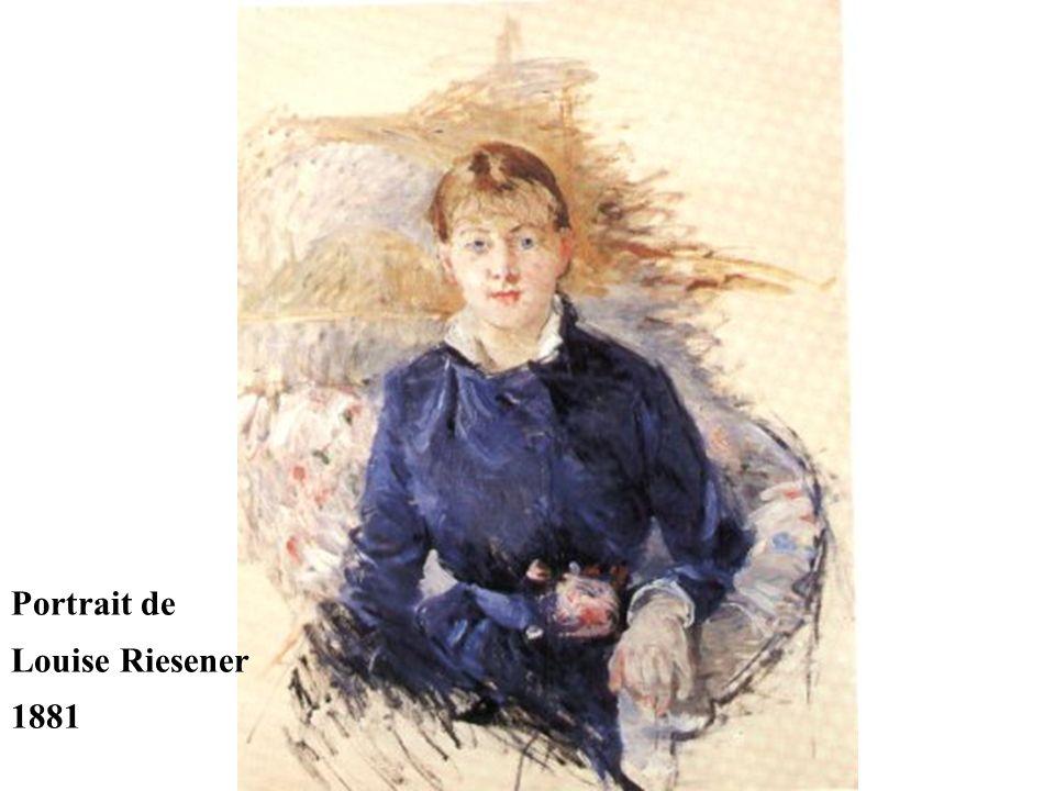 Portrait de Louise Riesener 1881