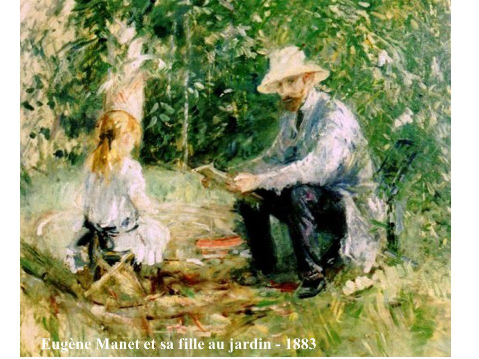 Eugène Manet et sa fille au jardin - 1883