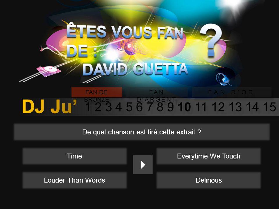 1 2 3 4 5 6 7 8 9 10 11 12 13 14 15 FAN DE BRONZE FAN DARGENT FAN DOR A quel âge David Guetta se lança til dans la musique .