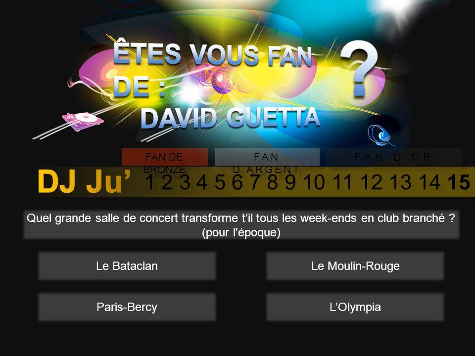 1 2 3 4 5 6 7 8 9 10 11 12 13 14 15 FAN DE BRONZE FAN DARGENT FAN DOR En 2010, David Guetta a été accusé de plagiat, sur son titre « 50 degrees » mais quel titre aurait-il plagier .