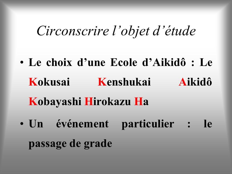 Circonscrire lobjet détude Le choix dune Ecole dAikidô : Le Kokusai Kenshukai Aikidô Kobayashi Hirokazu Ha Un événement particulier : le passage de grade