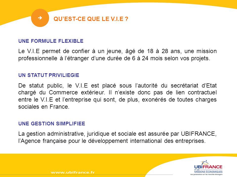 LA FORMATION DU V.I.E Au début de la mission, dans votre entreprise en France (165 jours maximum).
