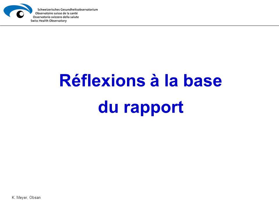 Réflexions à la base du rapport K. Meyer, Obsan