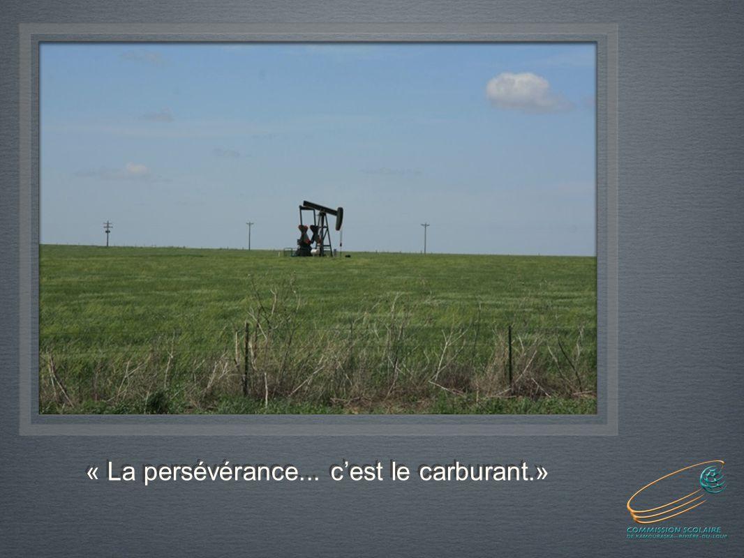 « La persévérance... cest le carburant.»