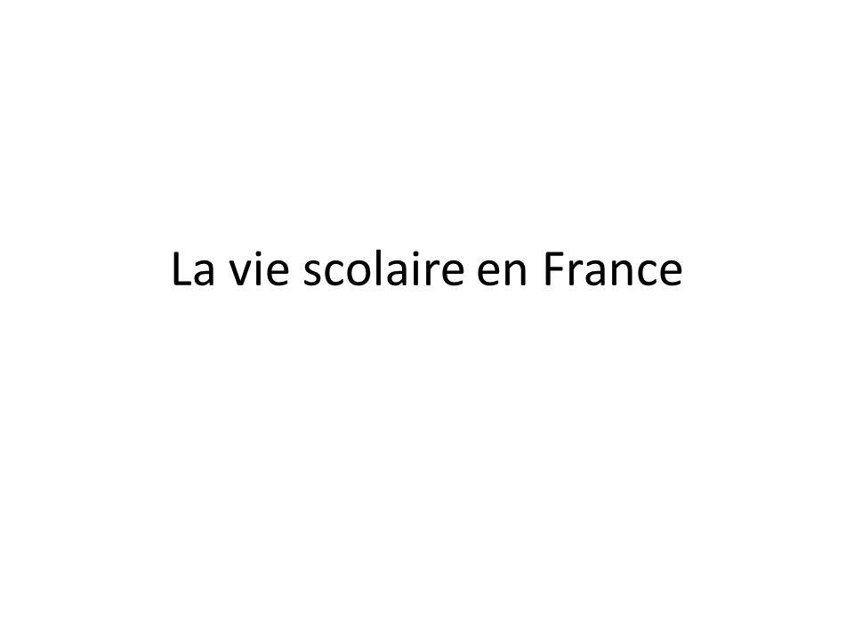 La vie scolaire en France