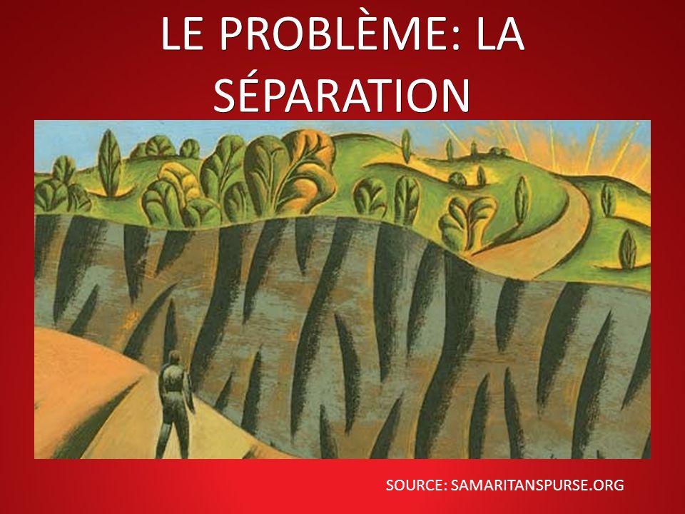 LE PROBLÈME: LA SÉPARATION SOURCE: SAMARITANSPURSE.ORG