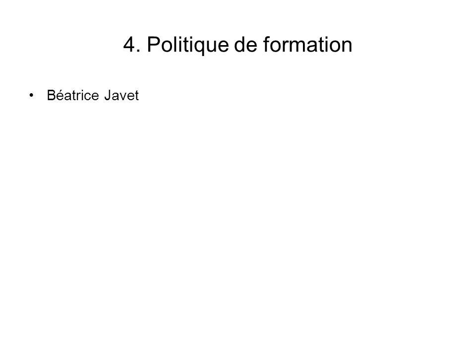 4. Politique de formation Béatrice Javet