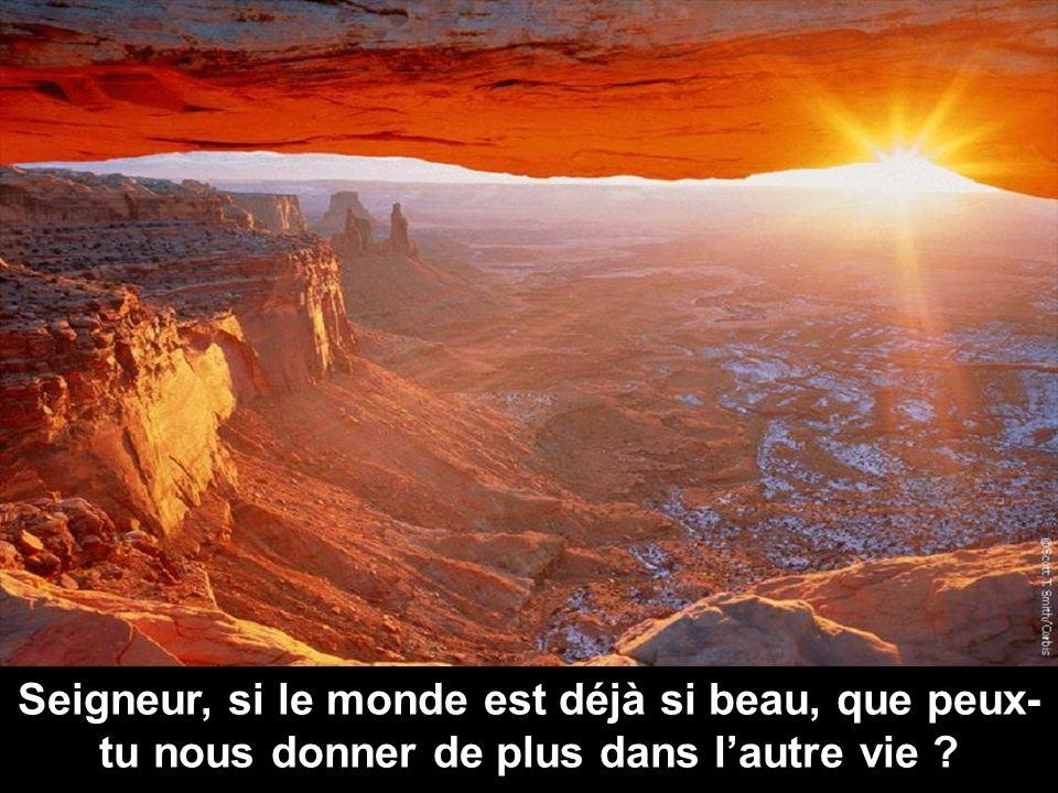 Seigneur, si le monde est déjà si beau, que peux- tu nous donner de plus dans lautre vie ?