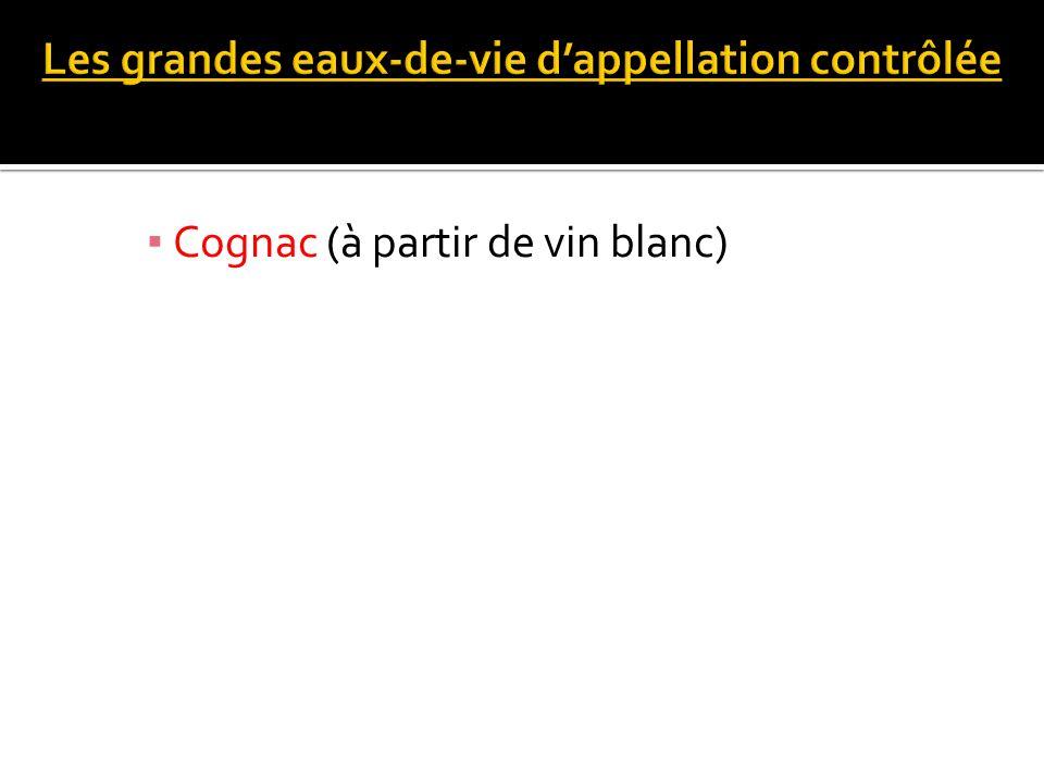 Cognac (à partir de vin blanc)
