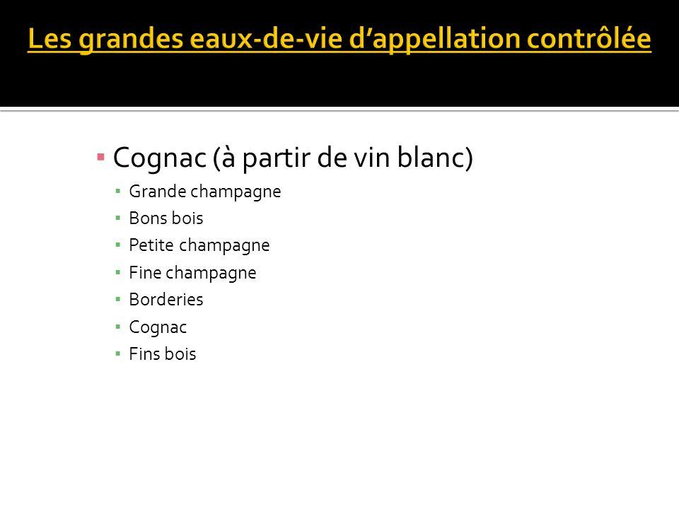 Grande champagne Bons bois Petite champagne Fine champagne Borderies Cognac Fins bois