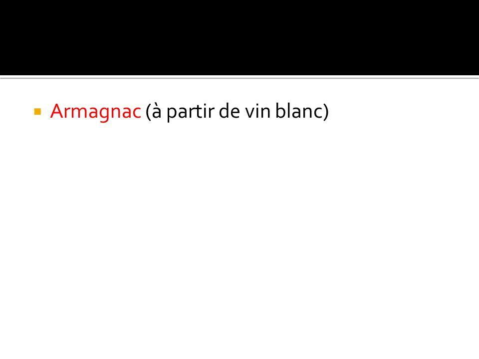 Armagnac (à partir de vin blanc)