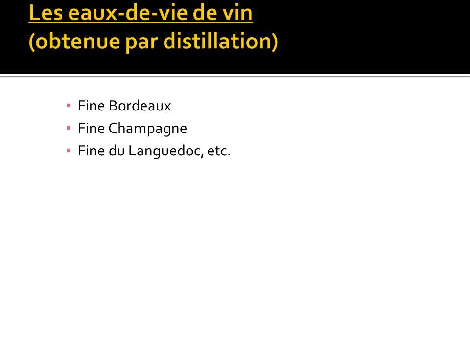 Fine Bordeaux Fine Champagne Fine du Languedoc, etc.