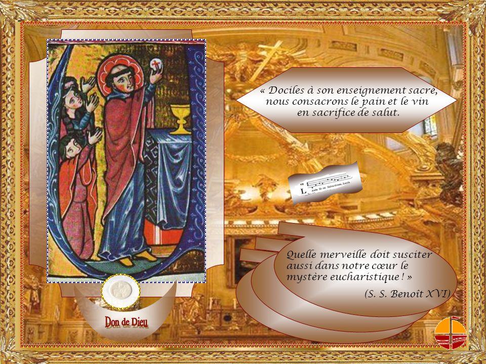 Ce que fit le Christ Jésus à la Cène, il ordonna quon le refasse en mémoire de lui.