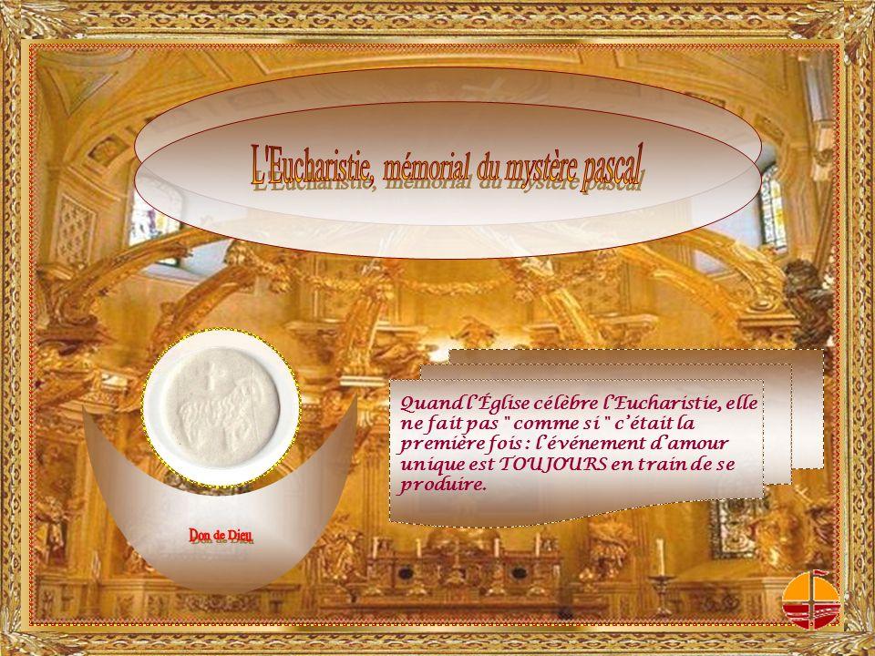 « Dociles à son enseignement sacré, nous consacrons le pain et le vin en sacrifice de salut.