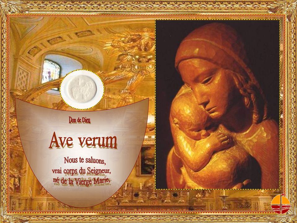 LÉglise apprend à communier à lamour d e l A g n e a u i m m o l é avec la Vierge immaculée.