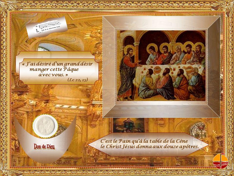 cest le don de lAmour en personne : Dieu se donne lui-même dans le sacrement de la Pâque du Christ Jésus.