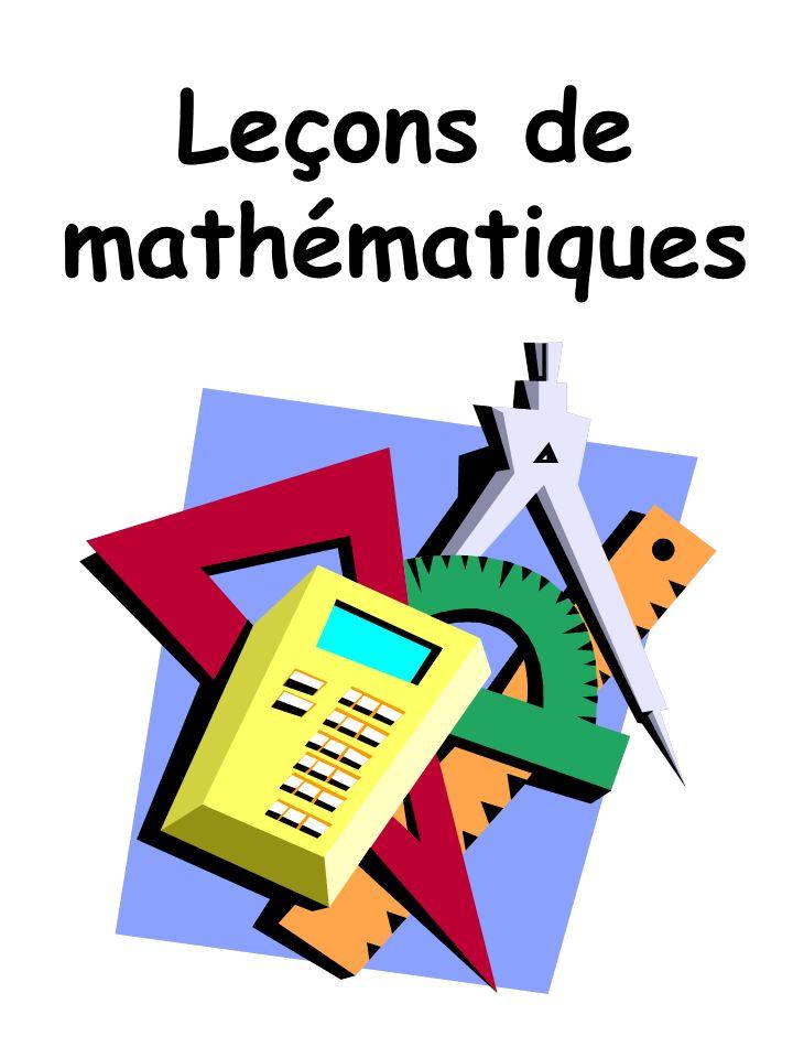 Voici ton cahier de leçons de mathématiques.