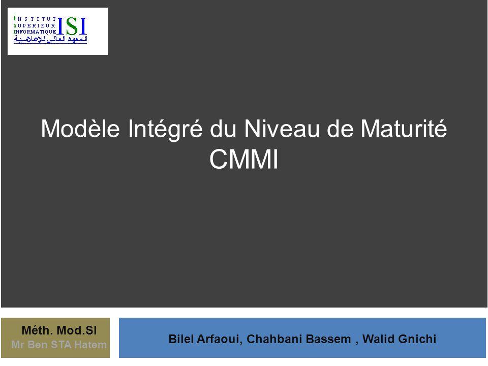 Méth. Mod.SI Mr Ben STA Hatem Bilel Arfaoui, Chahbani Bassem, Walid Gnichi Modèle Intégré du Niveau de Maturité CMMI