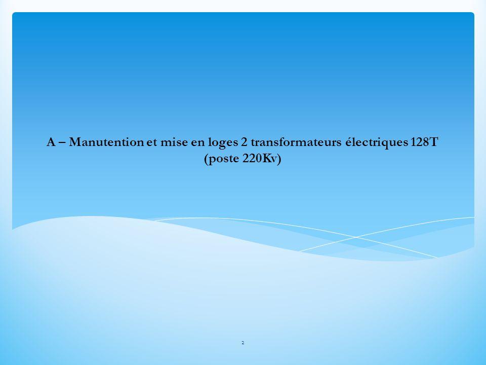 3 1- Reprise des transformateurs sur remorque surbaissée 10 lignes dessieux