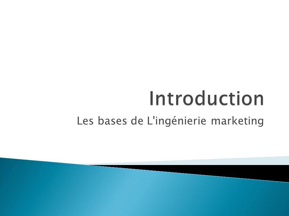 Les bases de L'ingénierie marketing