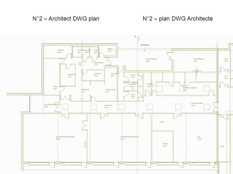 N°2 – Architect DWG planN°2 – plan DWG Architecte