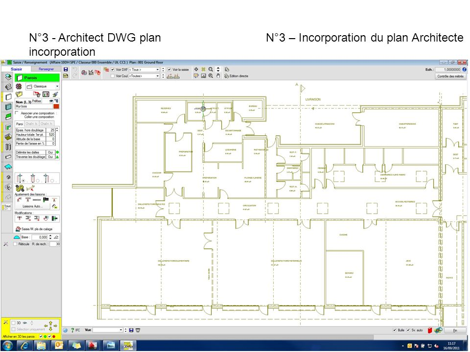 N°3 - Architect DWG plan incorporation N°3 – Incorporation du plan Architecte