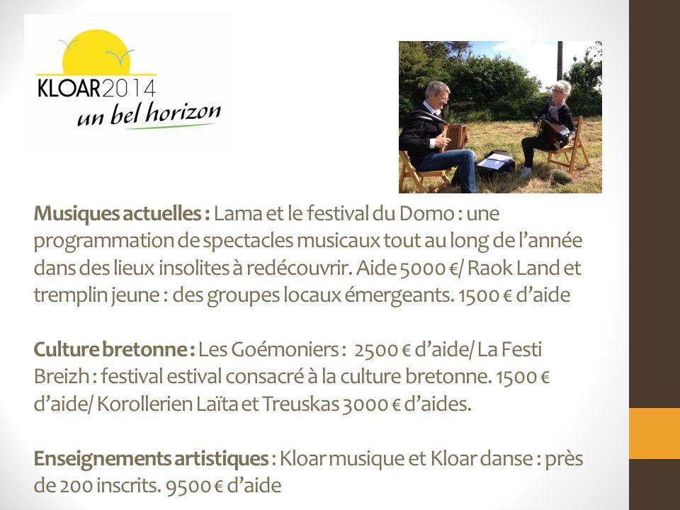 Musiques actuelles : Lama et le festival du Domo : une programmation de spectacles musicaux tout au long de lannée dans des lieux insolites à redécouvrir.