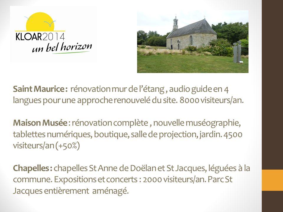 Saint Maurice : rénovation mur de létang, audio guide en 4 langues pour une approche renouvelé du site.