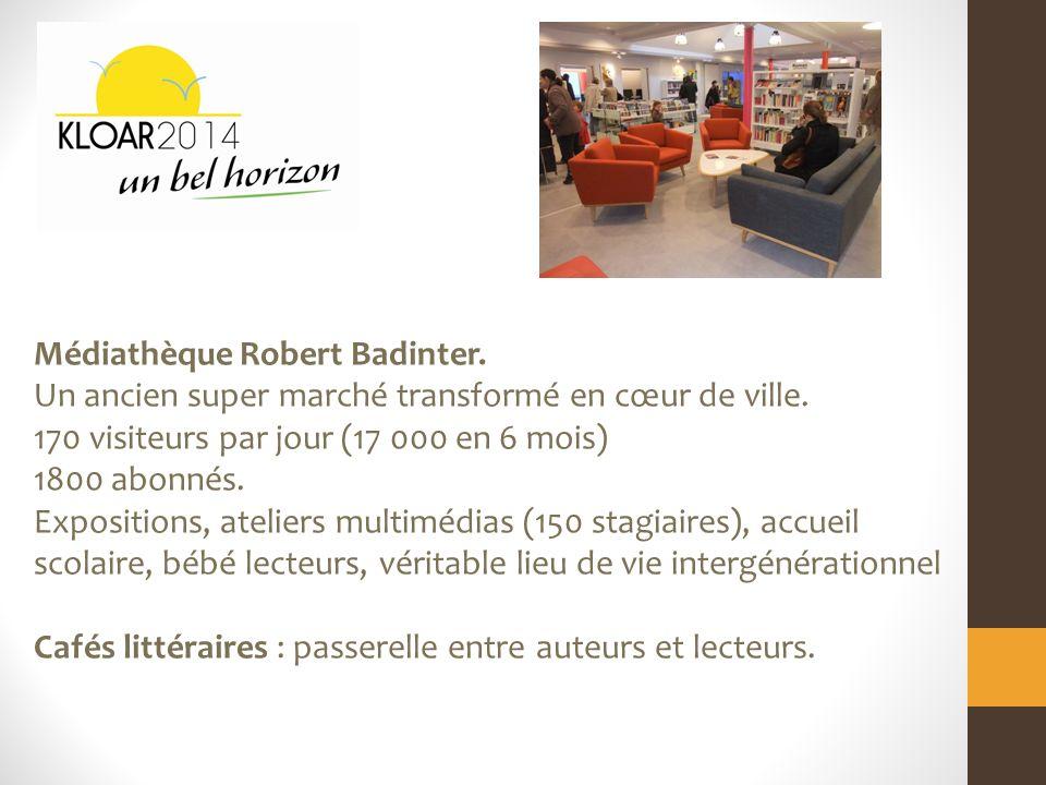 Médiathèque Robert Badinter. Un ancien super marché transformé en cœur de ville.