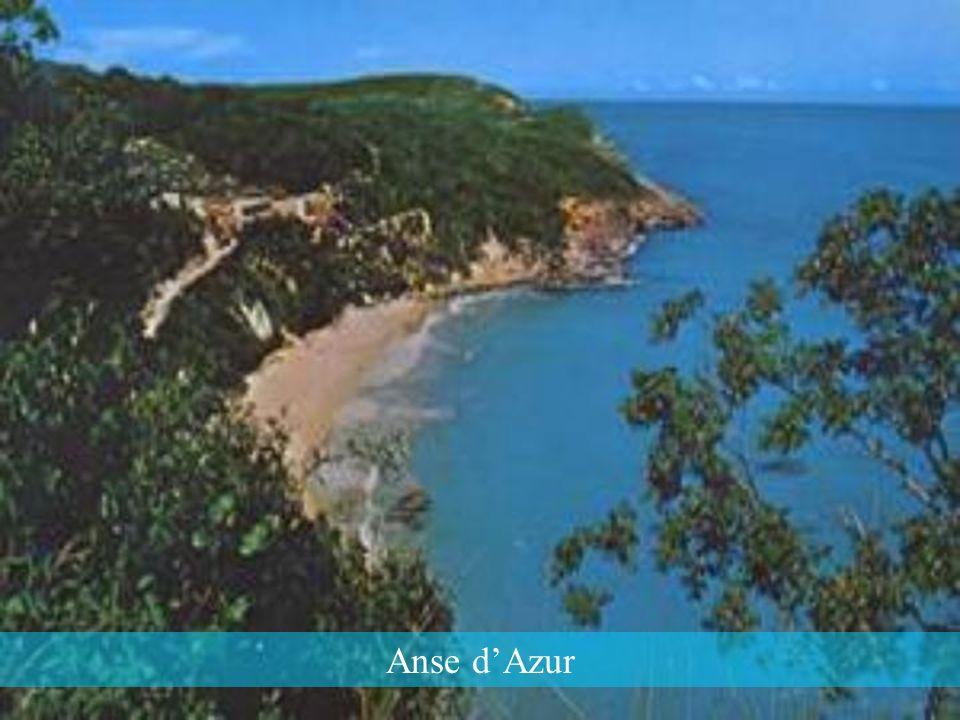 Anse d'Azur, une magnifique plage de Jérémie au sable blanc où la mer est si limpide et si calme au soleil.