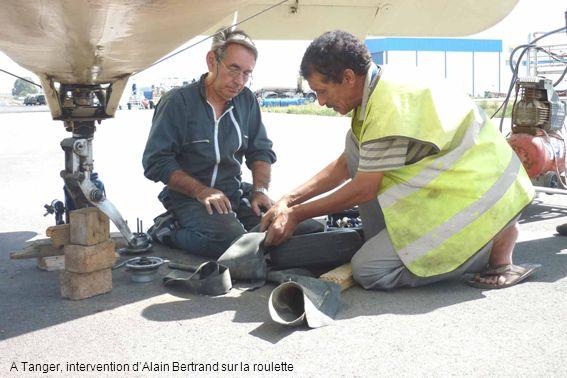 A Tanger, intervention dAlain Bertrand sur la roulette