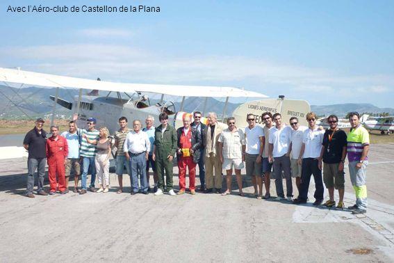 Avec lAéro-club de Castellon de la Plana