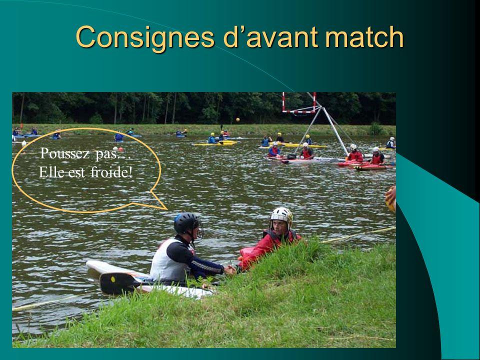 Consignes davant match Ché pas… Bon Match!