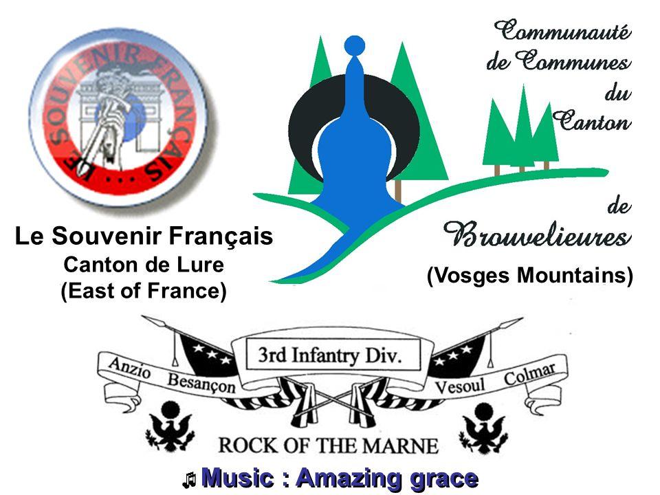 Music : Amazing grace Music : Amazing grace Le Souvenir Français Canton de Lure (East of France ) (Vosges Mountains)