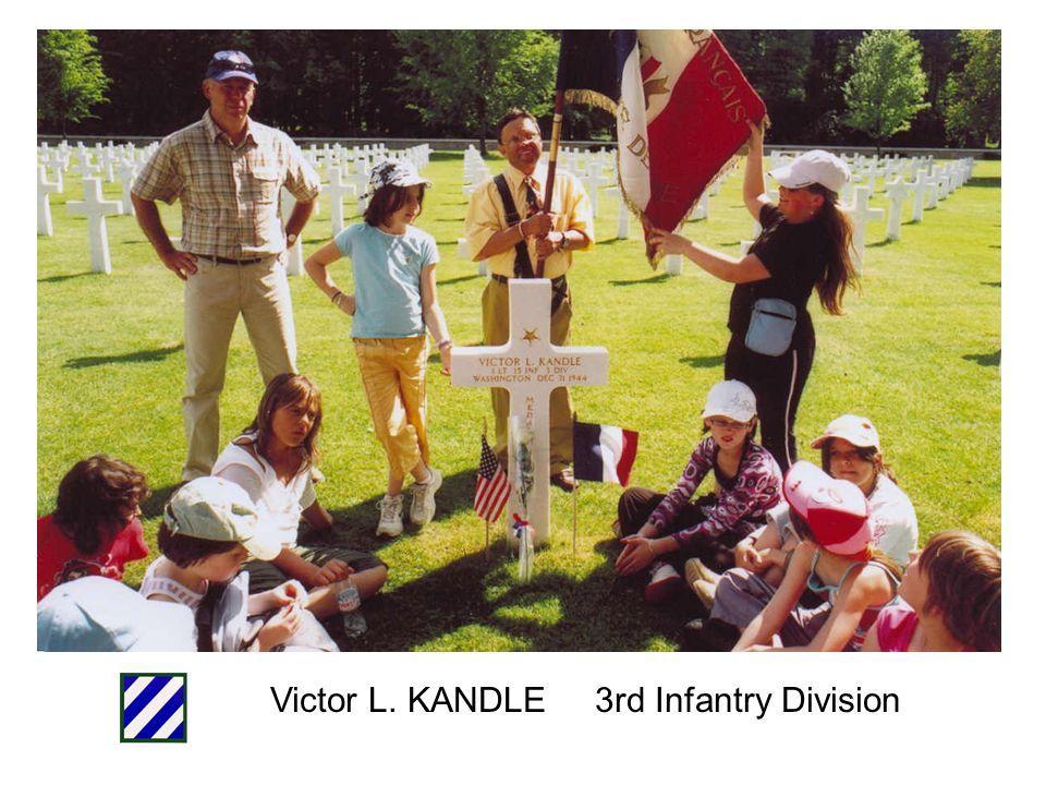 Victor L. KANDLE 3rd Infantry Division