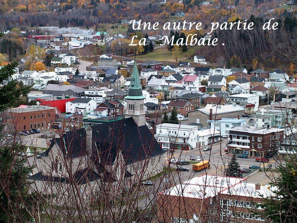 Une partie de la ville de La Malbaie.