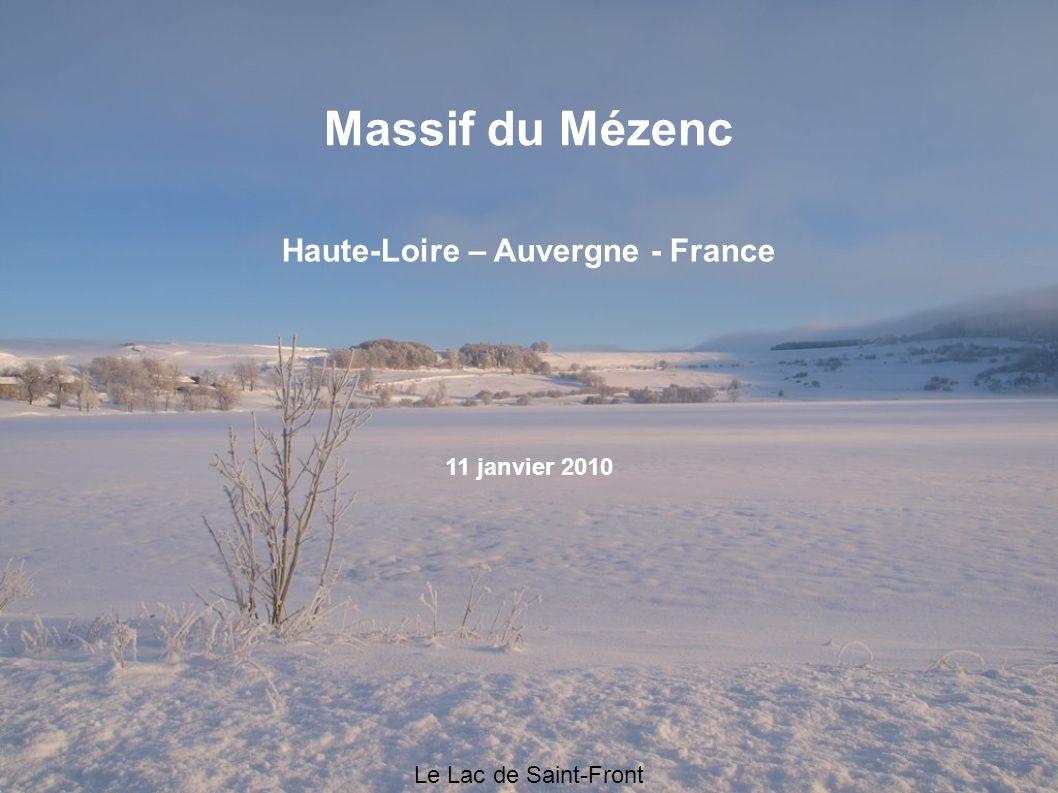 Le Lac de Saint-Front Massif du Mézenc Haute-Loire – Auvergne - France 11 janvier 2010