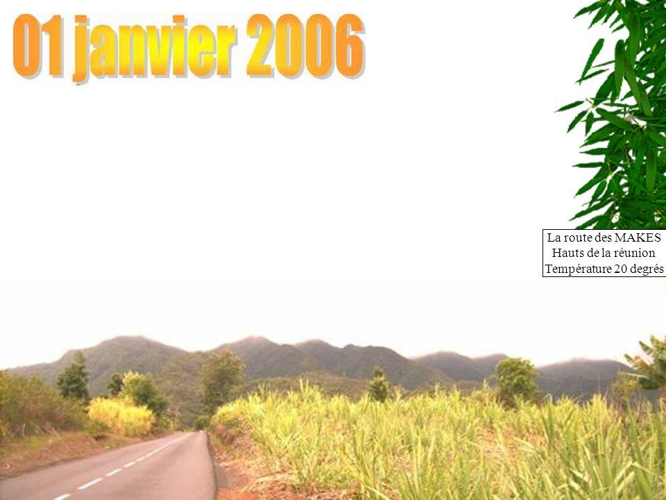 La route des MAKES Hauts de la réunion Température 20 degrés