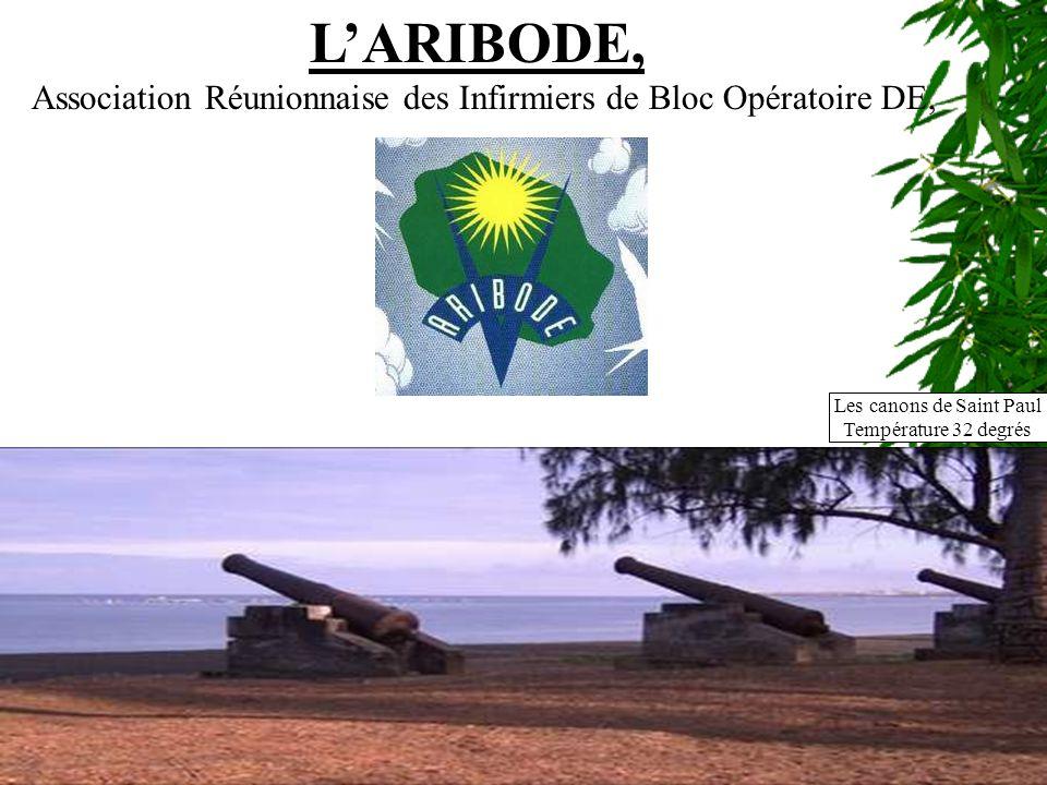 LARIBODE, Association Réunionnaise des Infirmiers de Bloc Opératoire DE, Les canons de Saint Paul Température 32 degrés