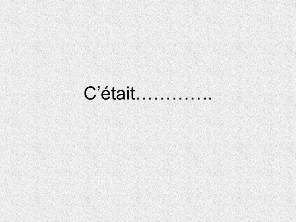 Cétait………….