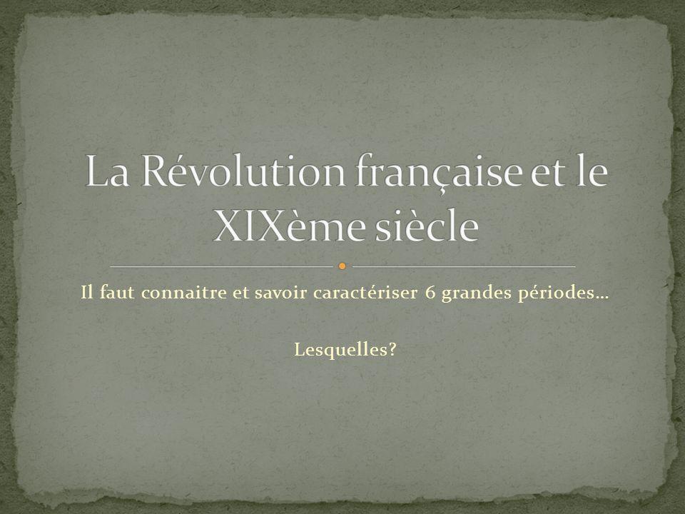 Le XIXème siècle, cest Lexpansion industrielle et urbaine de la France et de lEurope;